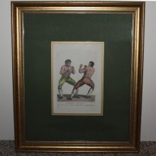 1812 Mendoza vs Humphreys Boxing Match C.R. Ryley Framed Matted