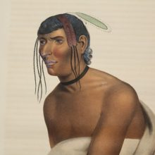 1843 Original Folio McKenney and Hall Jackopa Jack O Pa Chippewa Chief