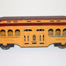 1920s Turner Dayton Pressed Tin Rapid Transit Floor Trolley BIG
