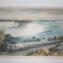 1924 Niagara Falls from Michigan Central Train Chromo American Lithographic Co