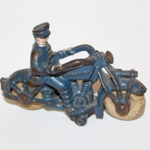 1930 Hubley Cast Iron Champion Motorcycle Police Policeman