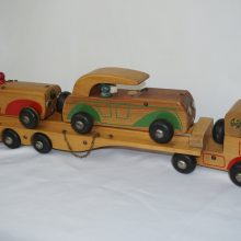 1940s Holgate Toys Wood Car Carrier #638 Pull Toy