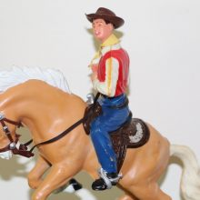 1960s Scarce Marx Bucking Broncho Bronco Cowboy with Box