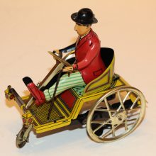 1980s Paya Hermanos Tin Clockwork Limited Edition Replica Charlie Chaplin's Car