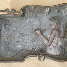 Cast Iron Art Deco Nouveau Maiden Tray Hand Painted,Nouveau,Deco,Pin Tray,Bradley Hubbard