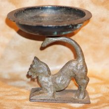 Cast Iron Figural German Shepherd Tray Stand Ashtray,Dog,Tray,Deco