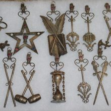 Collection of 12 Different Antique IOOF Silver Plated Jewels Pendants,Mason,Masonic,Freemason,Odd Fellows
