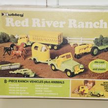 Diecast Hubley Kiddie Red River Ranch Set with Animals NIB Old Stock,Hubley,Vintage Toy,Toy,Antique Toy