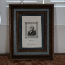 Early Scarce 1824 Stipple Engraving George Washington George Smeeton Framed