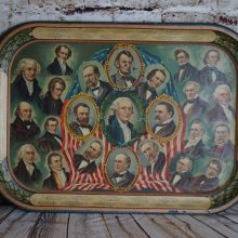 1897 William McKinley Inauguration Lithographed Serving Tray