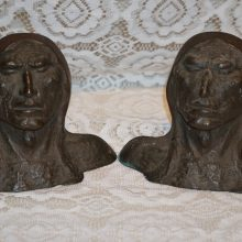 Bronze Native American Indian Bust Sculptures