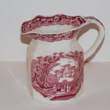 Mason's Red Transfer Ironstone Milk Pitcher