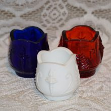 NTHCS 1976 1977 1978 Convention Toothpick Holders Red White Blue Torch Tree