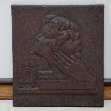 Old Cast Iron Nouveau German Relief Plaque Award Outstanding Hair Specialist