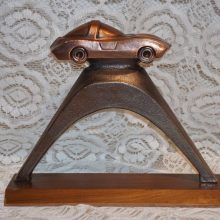 Retro Chevy Corvette Stingray Bronze or Brass Trophy on Base