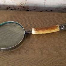 Atkin Brothers Stag Handled Hand Held Magnifying Glass