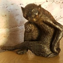 Maitland Smith Bronze or Brass  Figural Monkey