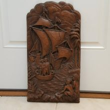 Large Vintage Syroco 24 Inch Panel Christopher Columbus Discovers America